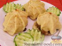 """Фото к рецепту: Мини-запеканки """"Звездочки"""" из картофельного пюре"""