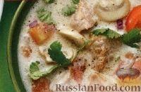 Фото к рецепту: Тайский суп с грибами и свининой