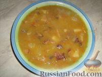 Фото к рецепту: Гороховый суп с копченостями и грибами