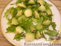 Фото приготовления рецепта: Салат из авокадо с апельсинами - шаг №6