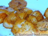 """Фото к рецепту: Картофель, """"печенный"""" на сковороде, только вкуснее"""