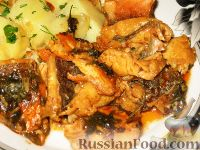 Фото к рецепту: Жаркое из рыбы по-закарпатски