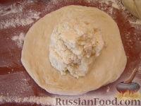 """Фото приготовления рецепта: """"Картофчин"""" - осетинский пирог с картофелем - шаг №10"""