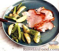Фото к рецепту: Гармоничное блюдо из ветчины и овощей