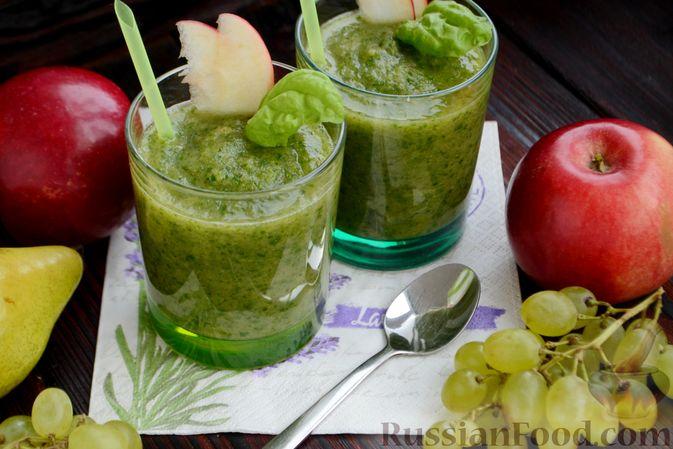 Фото приготовления рецепта: Смузи с виноградом, яблоком и грушей - шаг №11