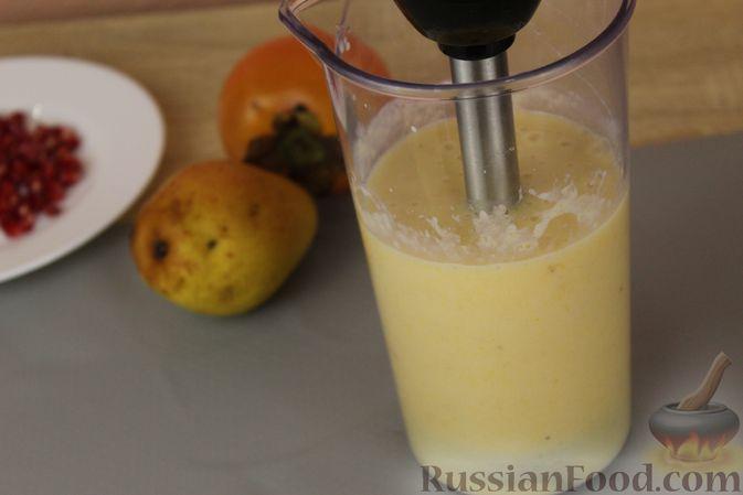 Фото приготовления рецепта: Смузи из хурмы с грушей и бананом - шаг №8