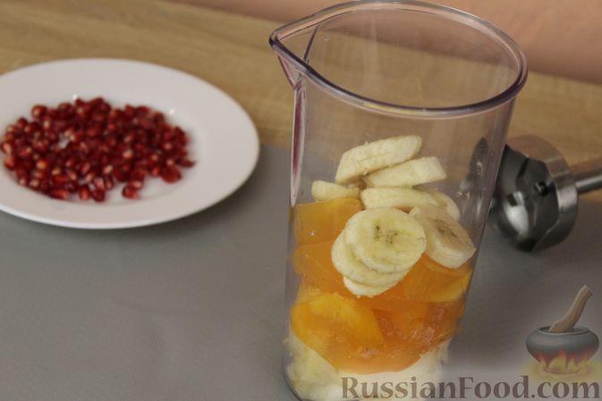 Фото приготовления рецепта: Смузи из хурмы с грушей и бананом - шаг №6