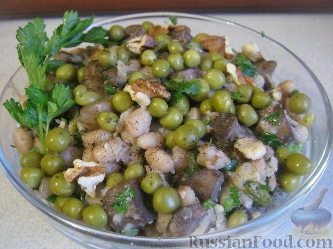 Салаты из фасоли консервированной рецепты с грибами