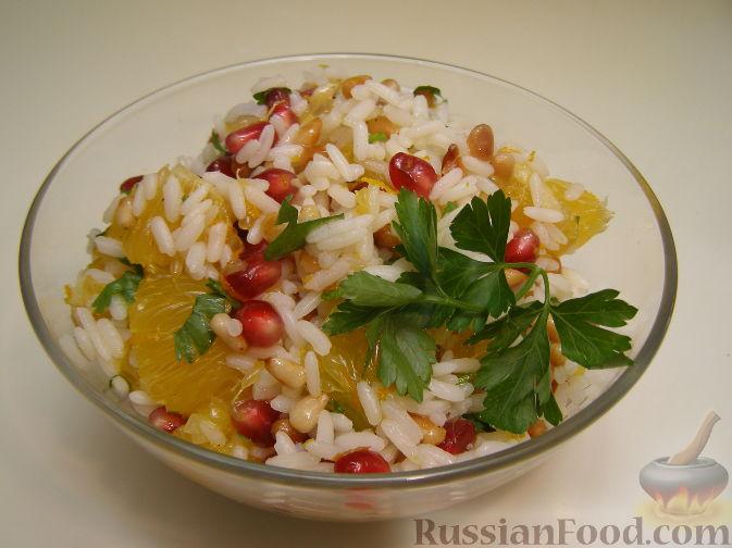 Рецепт Рисовый салат с апельсинами и кедровыми орехами