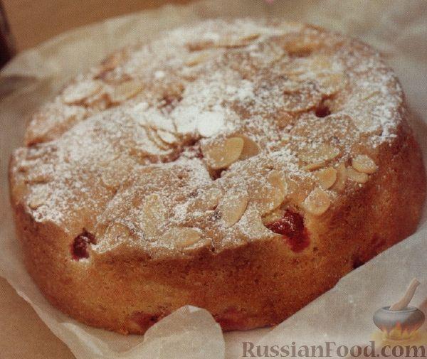 Рецепт Пирог-кекс с миндалем и малиной
