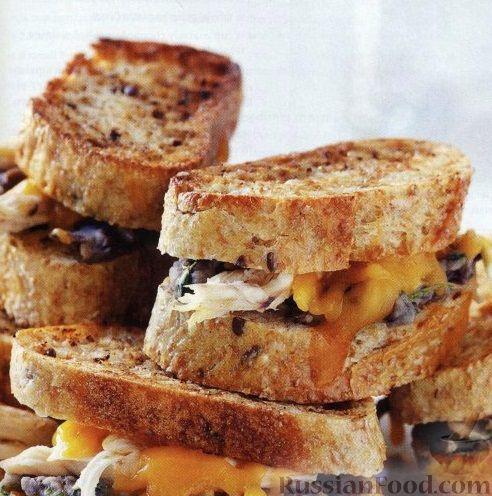 Рецепт Сэндвичи с фасолевым пюре и куриным мясом