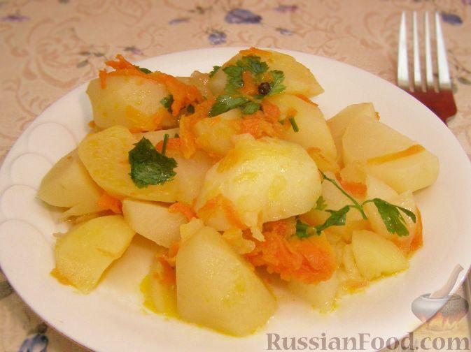 Рецепт Картофель, тушенный с овощами
