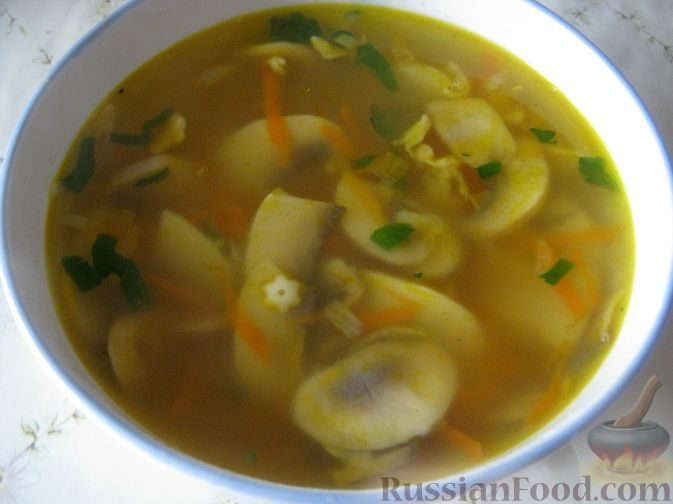 суп из шампиньонов рецепт с видео