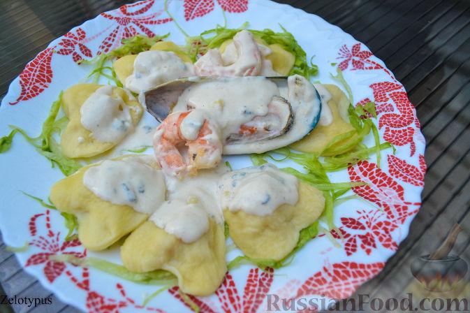 Рецепт Равиоли с креветками