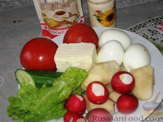 """Фото приготовления рецепта: Салат """"Нарядный"""" с топинамбуром - шаг №1"""