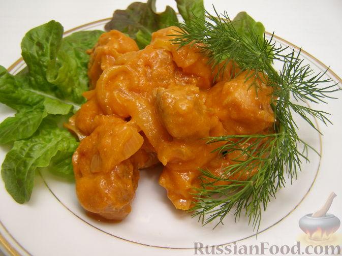 Рецепт Гуляш из свинины со сметаной
