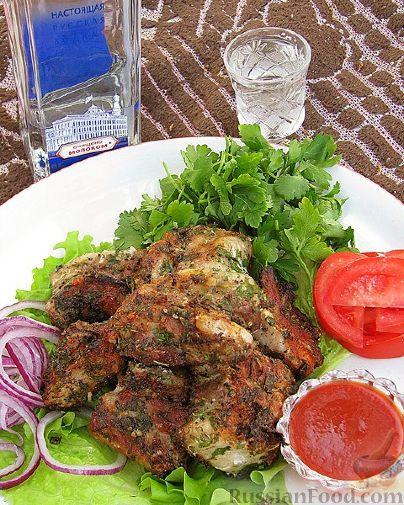 Рецепт Шашлык из свинины в маринаде с чесноком