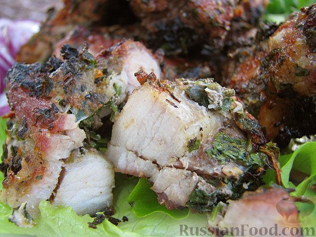 Рецепт приготовления свинины с чесноком