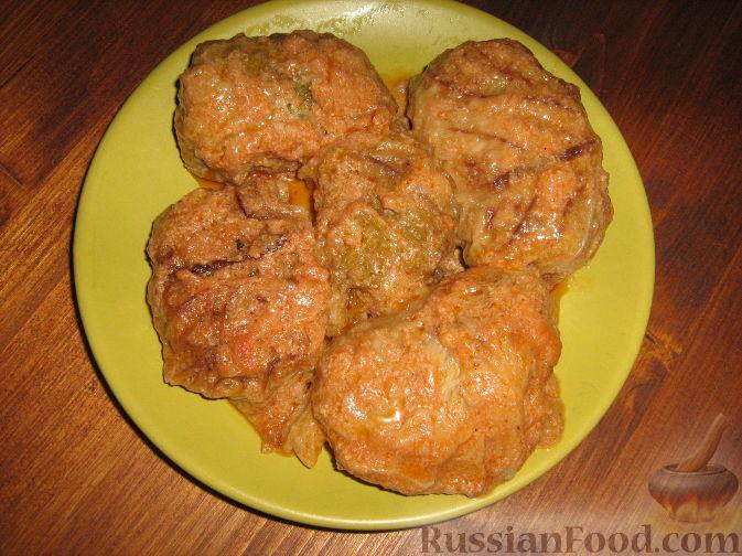 Рецепт Голубцы из савойской капусты с мясо-грибной начинкой