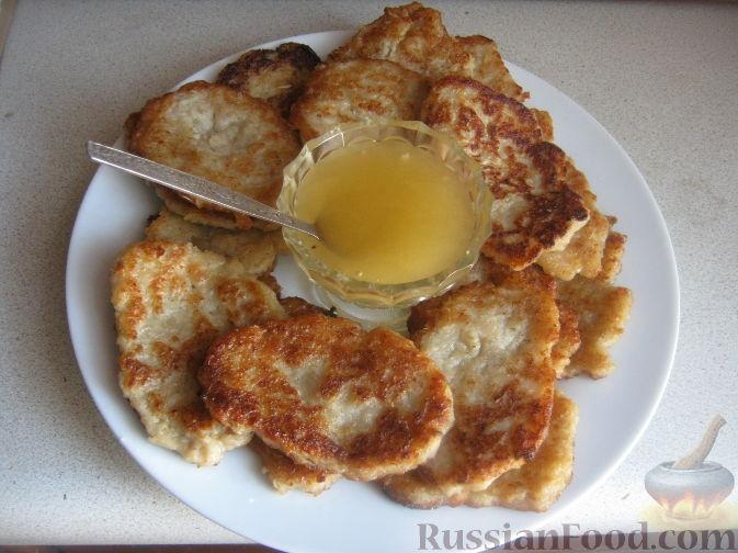 Рецепт Оладьи из овсяной каши с яблоками