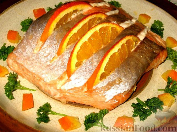 Рецепт Апельсиновая семга