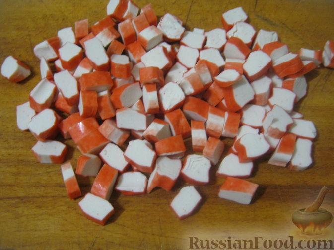 рецепт салата крабовые и помидоры