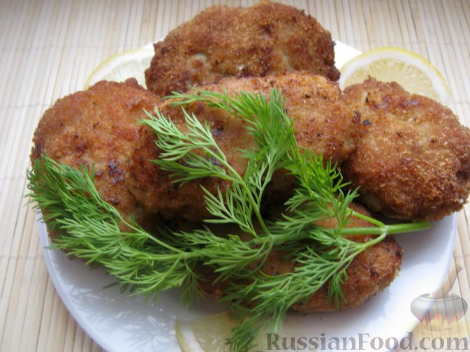 """Рецепт Рубленые котлеты из свинины """"Сибирские"""""""