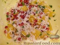 Фото приготовления рецепта: Рисовый салат с апельсинами и кедровыми орехами - шаг №9