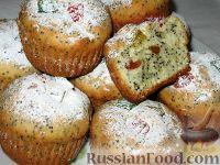 Фото к рецепту: Сметанные кексы с маком