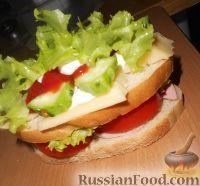 Фото к рецепту: Бутерброд из всего, что под рукой