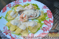 Фото к рецепту: Равиоли с креветками