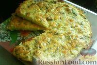 Фото к рецепту: Пирог-запеканка из тертого картофеля с сыром и чесноком