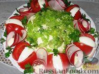 """Фото к рецепту: Салат """"Нарядный"""" с топинамбуром"""