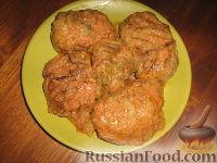 Фото к рецепту: Голубцы из савойской капусты с мясо-грибной начинкой