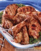 Фото к рецепту: Курица-гриль в маринаде с яблочным уксусом