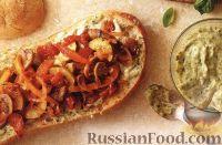 Фото к рецепту: Бутерброды из чиабатты, куриного филе и овощей