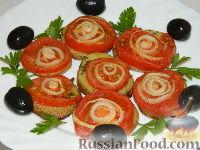 """Фото к рецепту: Картофельная запеканка  с помидорами """"Серпантин"""""""