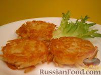 Фото к рецепту: Хэшбраун - американские картофельные оладьи