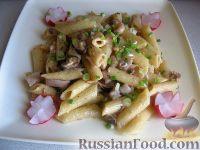 Фото к рецепту: Паста постная с морепродуктами