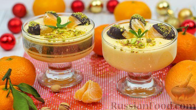 Фото к рецепту: Мандариново-сливочный десерт