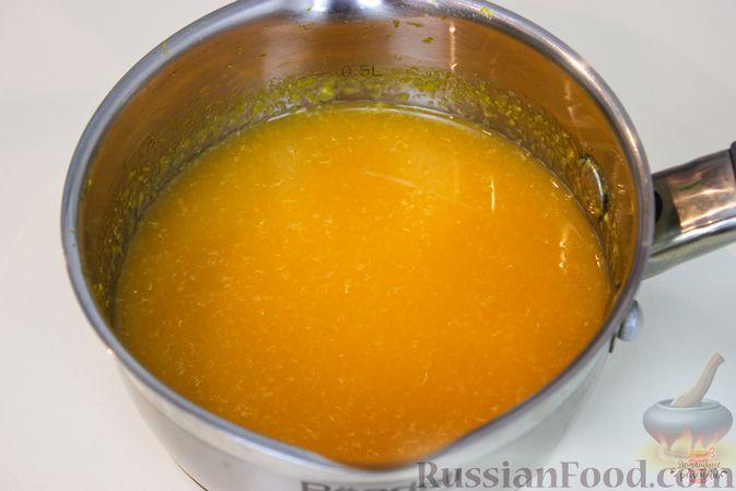 Фото приготовления рецепта: Мандариново-сливочный десерт - шаг №4