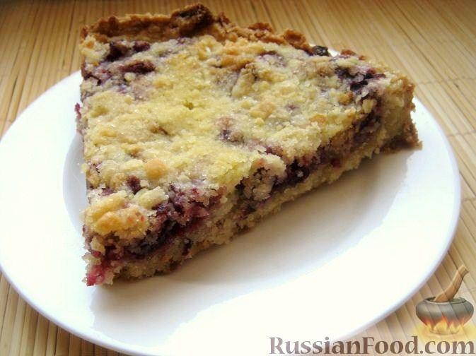 Рецепт Быстрый пирог с брусникой