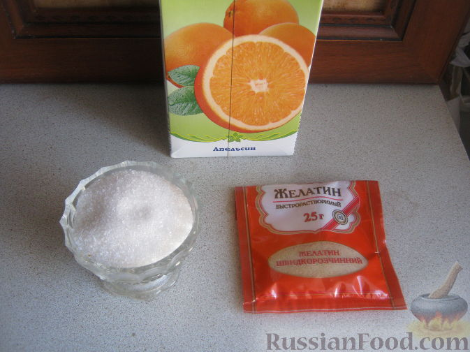 Как сделать желе с сока и желатина