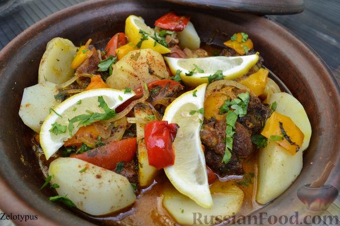 Рецепт Тажин с бараниной