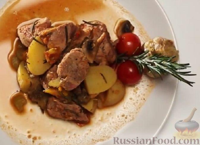 Рецепт Овощное рагу со свининой (в мультиварке)