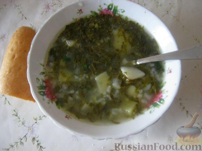 Рецепт Зеленый борщ с курицей