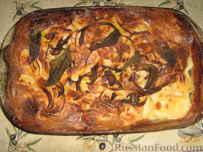 Рецепт Картофель, запеченный в молоке