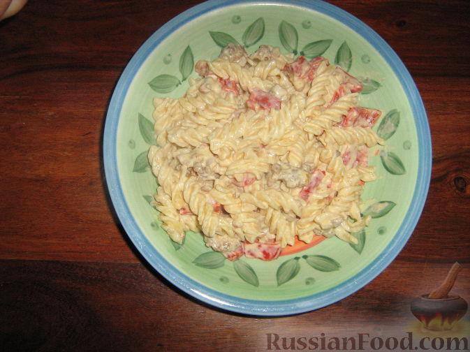 Рецепт Паста (фузилли) с болгарским перцем и маскарпоне