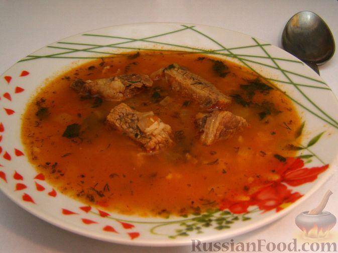 Рецепт Суп-харчо из говядины с помидорами