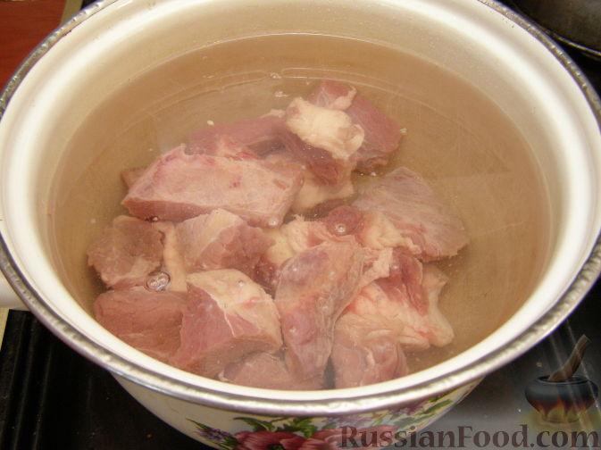 Приготовления супа харчо с картошкой